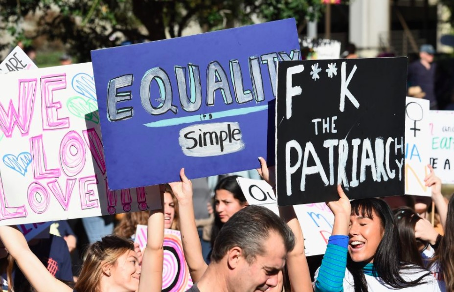 Activists attend the 2019 Women's March Los Angeles on January 19, 2019 in Los Angeles, California.