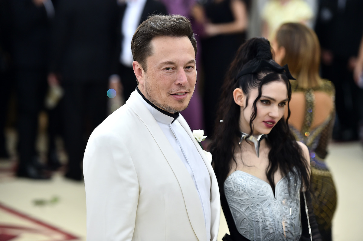 Elon Musk and Grimes attend the Met Gala.