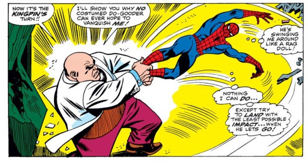 Kingpin comic panel