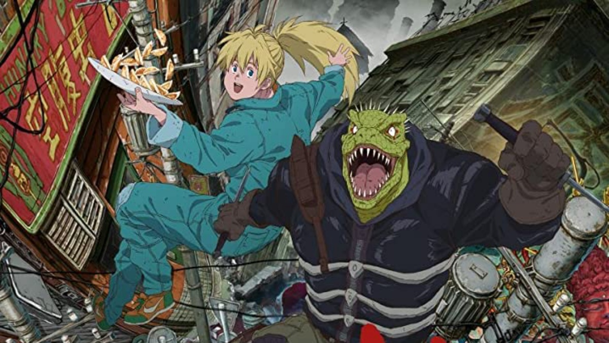 Dorohedoro (2020) cast all striking a pose because this is an anime