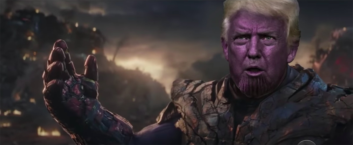Donald Trump as Thanos in America: Endgame from The Late Show with Stephen Colbert