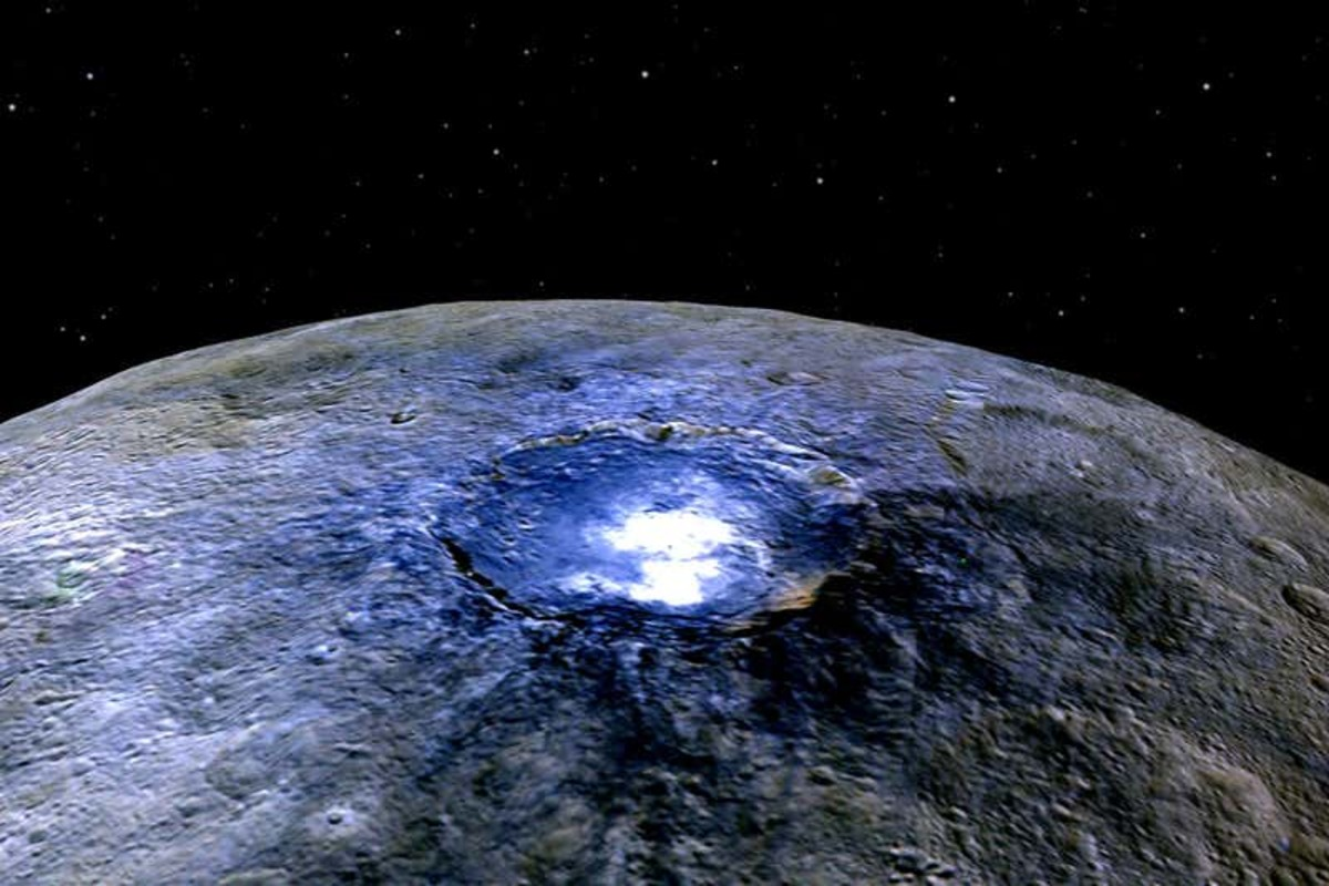 the surfface of ceres as seen by NASA