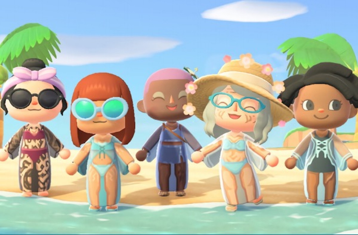 "A shot from Gillette Venus's ""skinclusive"" Animal Crossing campaign."