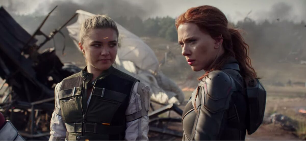Florence Pugh and Scarlett Johansson in the trailer for Black Widow