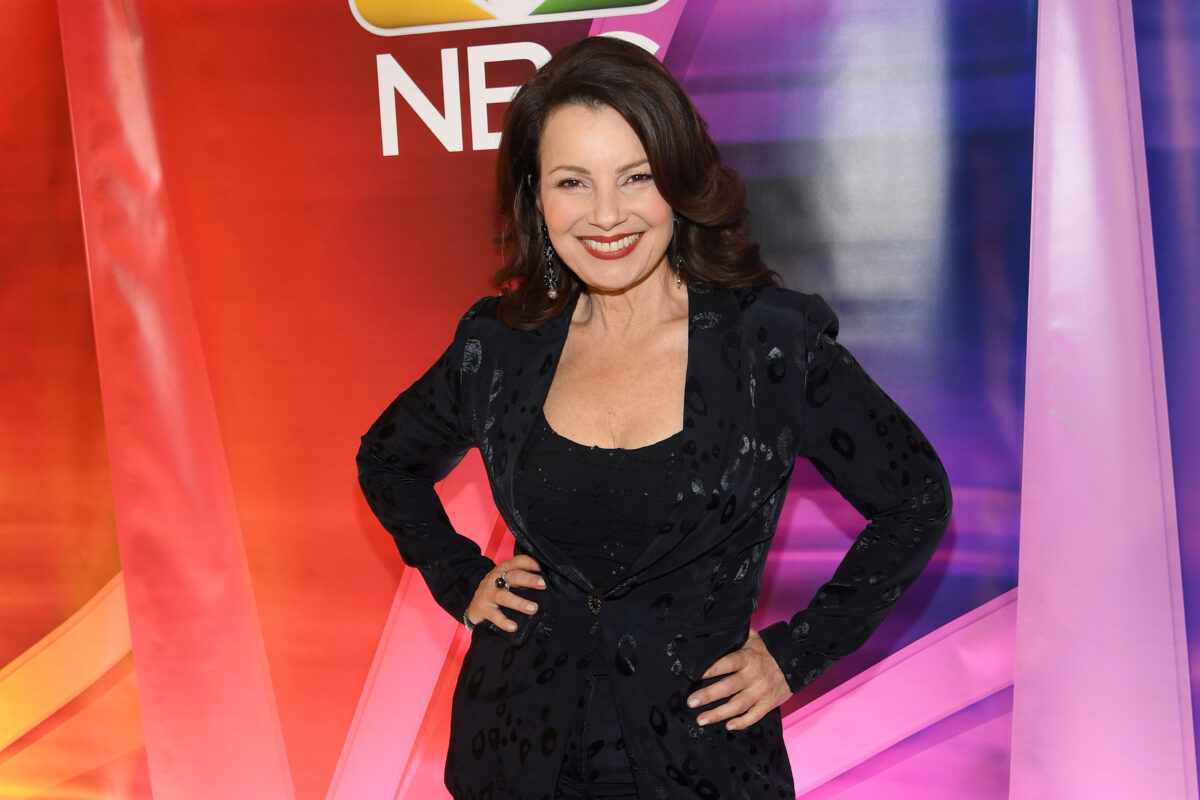 """NEW YORK, NEW YORK - JANUARY 23: Fran Drescher from """"Indebted"""" attends the NBC Midseason New York Press Junket at Four Seasons Hotel New York on January 23, 2020 in New York City. (Photo by Dimitrios Kambouris/Getty Images)"""