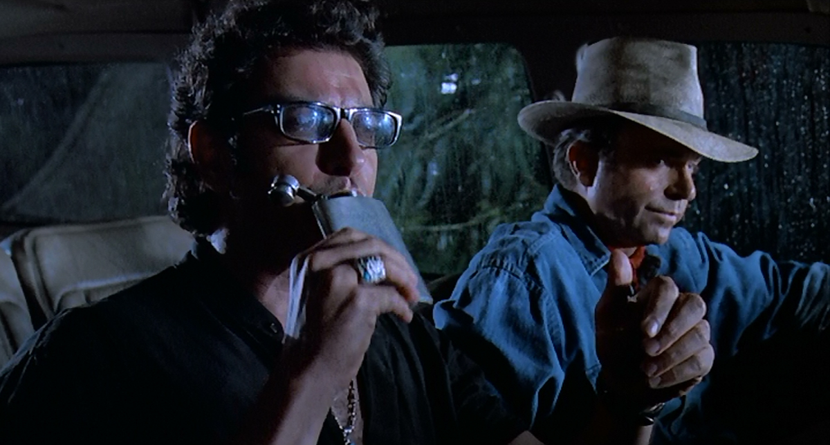 Jeff Goldblum as Ian Malcolm and Sam Neill as Alan Grant in Jurassic Park