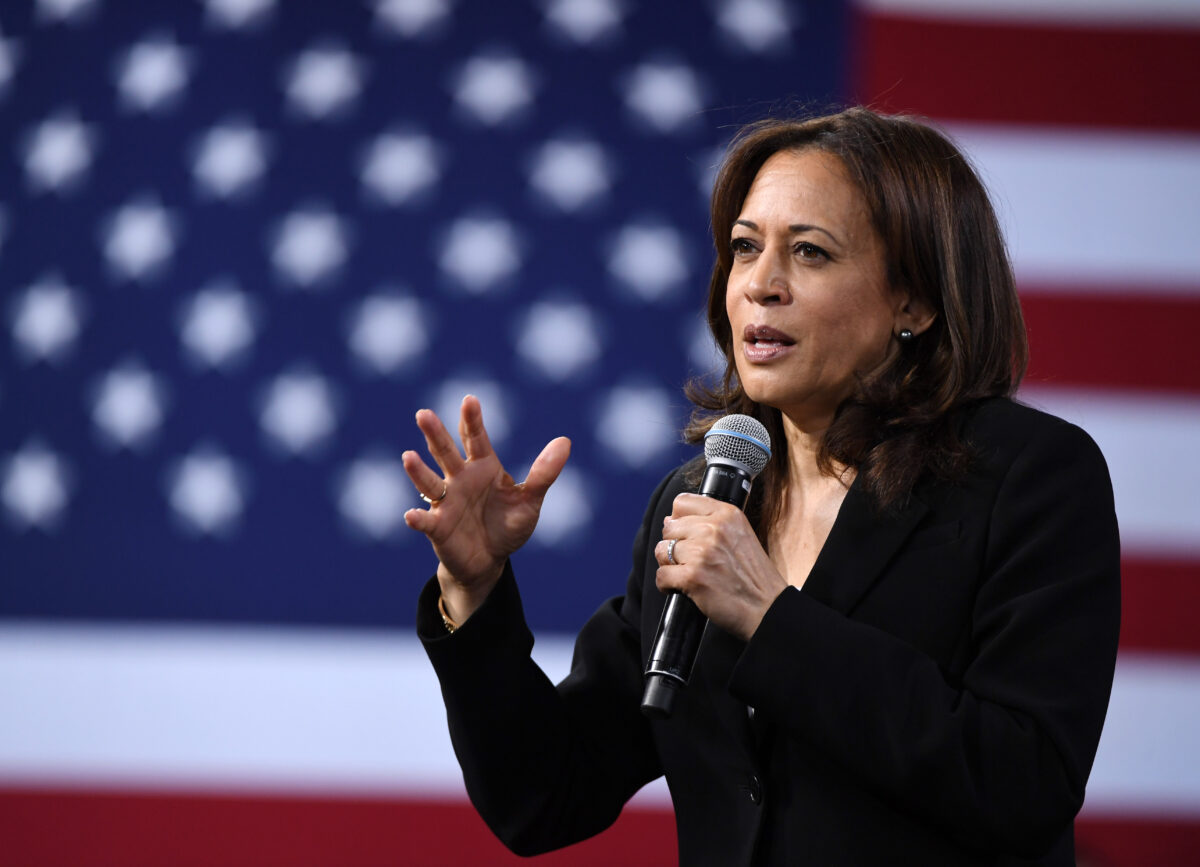 Kamala Harris speaking in Las Vegas