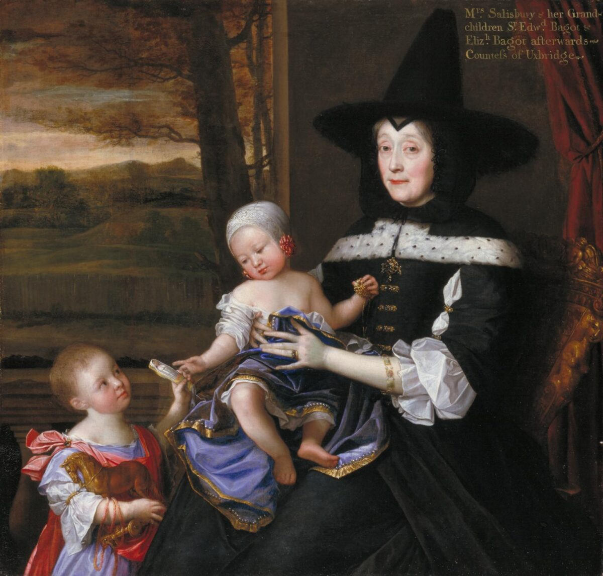 Portrait of Mrs Salesbury with her Grandchildren Edward and Elizabeth Bagot 1675-6 John Michael Wright 1617-1694 Presented by the Patrons of British Art through the Tate Gallery Foundation 1993 http://www.tate.org.uk/art/work/T06750