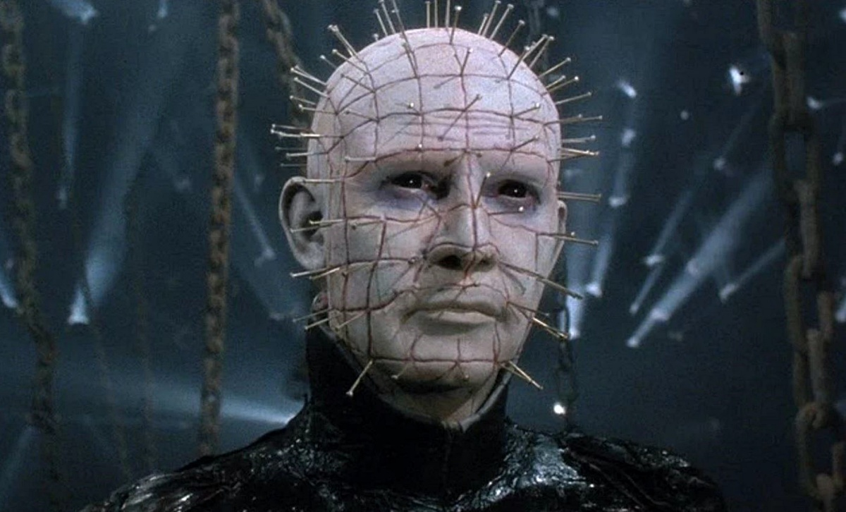 Doug Bradley as pinhead serving face as only he can