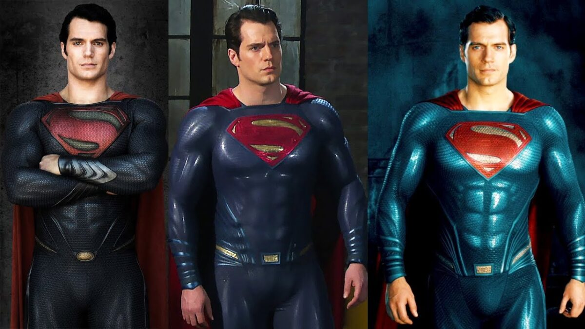 Henry Cavill's Superman suits in the DCEU