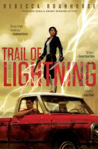 Book cover for Trail of Lightning by Rebecca Roanhorse