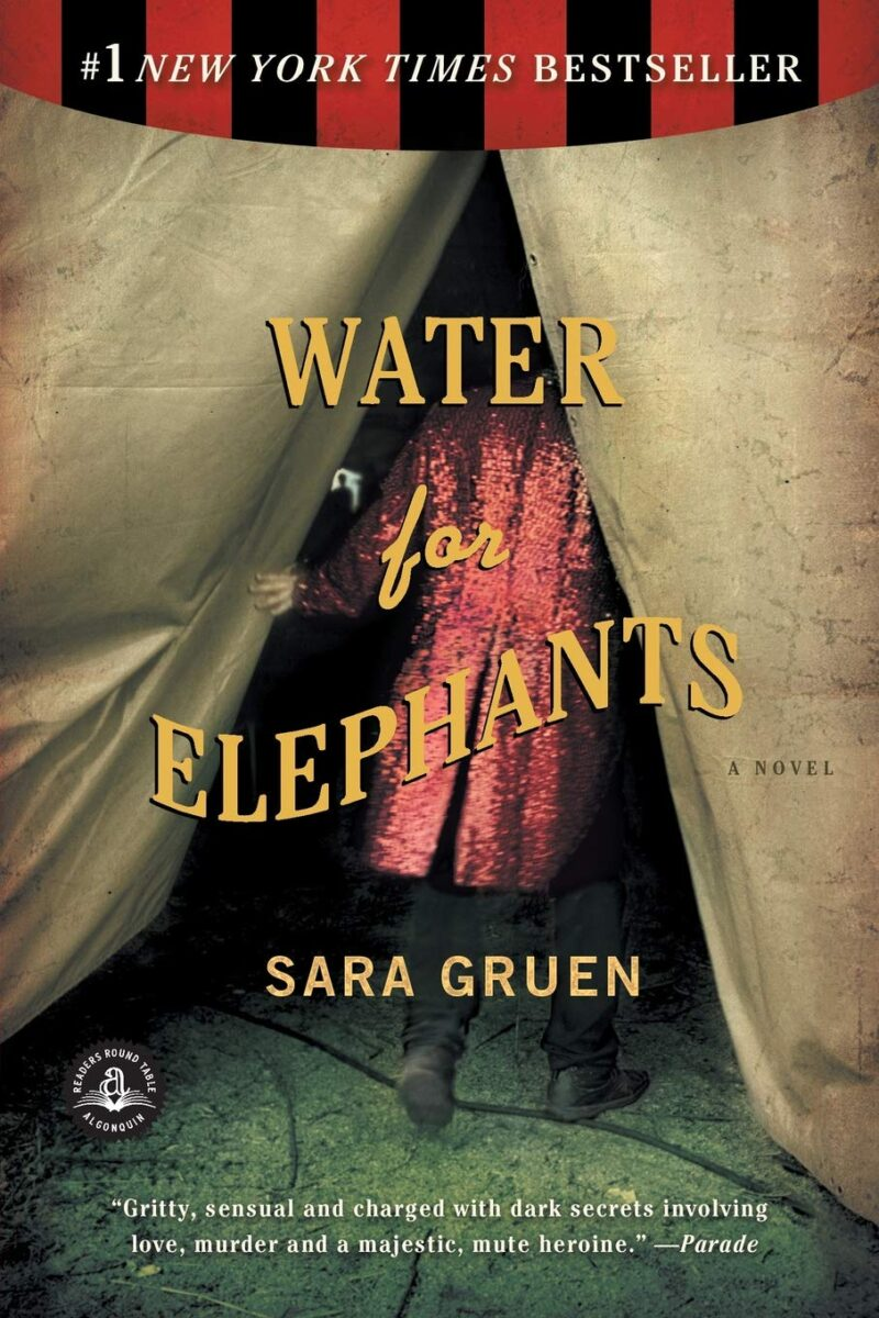 Book cover for Water for Elephants by Sara Gruen