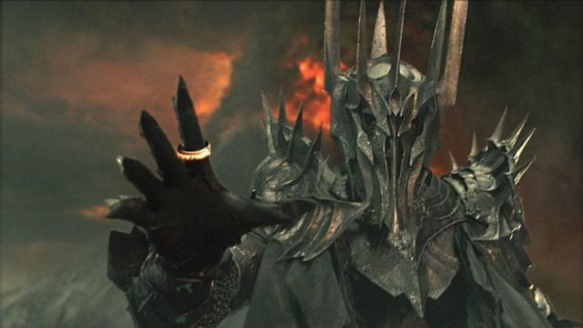 Sauron with the ring of power