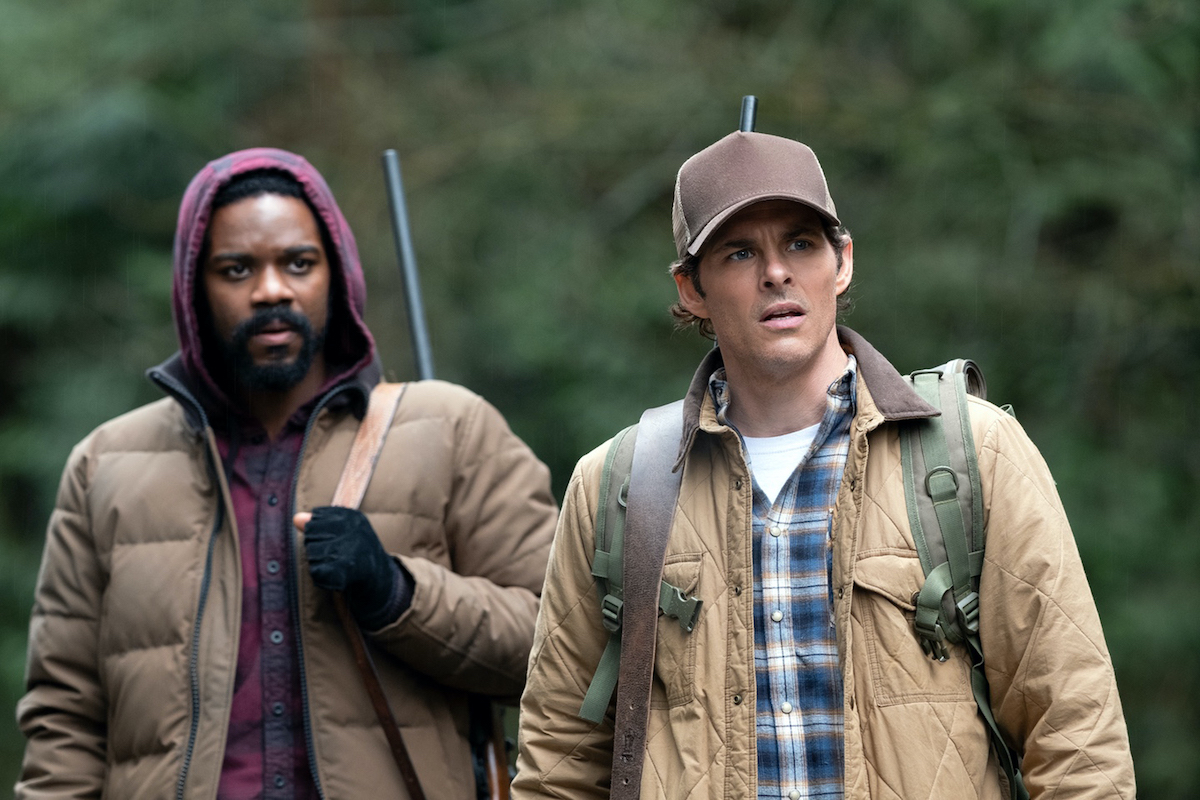 Pictured (l-r): Jovan Adepo as Larry Underwood and James Marsden as Stu Redman of the the CBS All Access series THE STAND