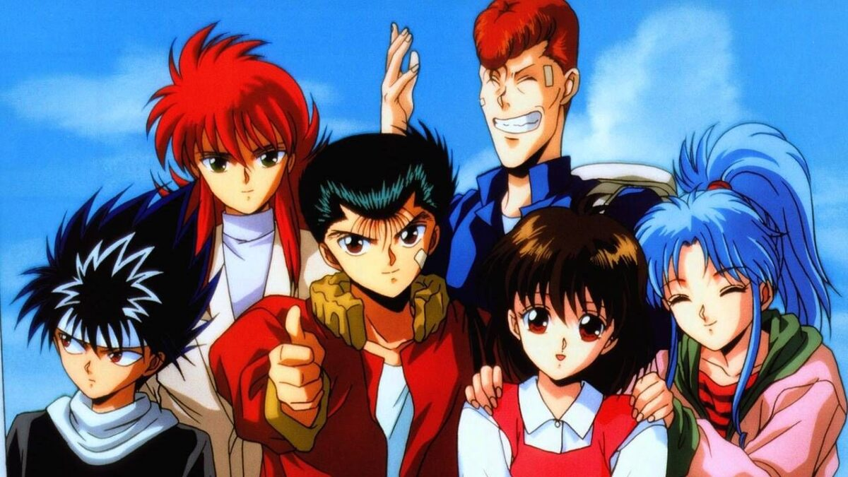 Group photo of the main cast of YYH
