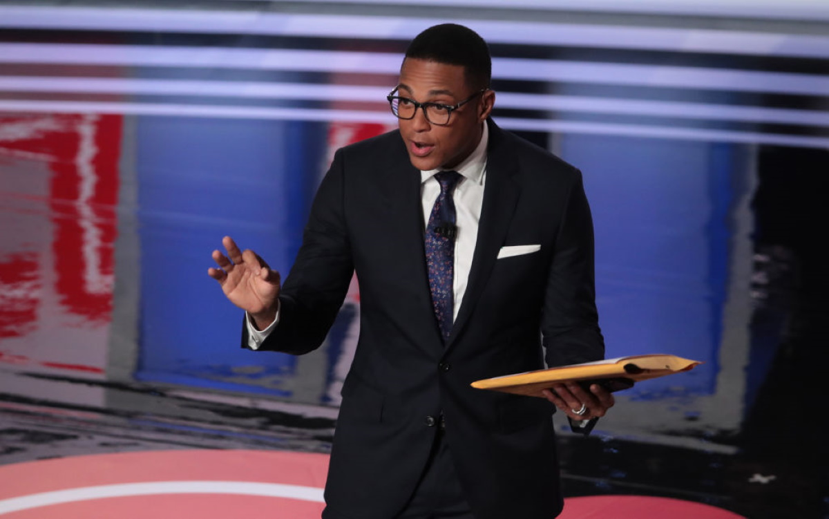NN moderator Don Lemon speaks to the crowd attending the Democratic Presidential Debate at the Fox Theatre July 31, 2019 in Detroit, Michigan.
