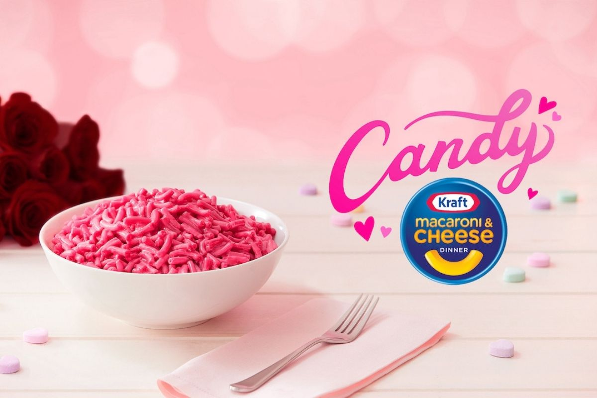 Kraft Introduces Candy Pink Mac and Cheese for Valentine's Day