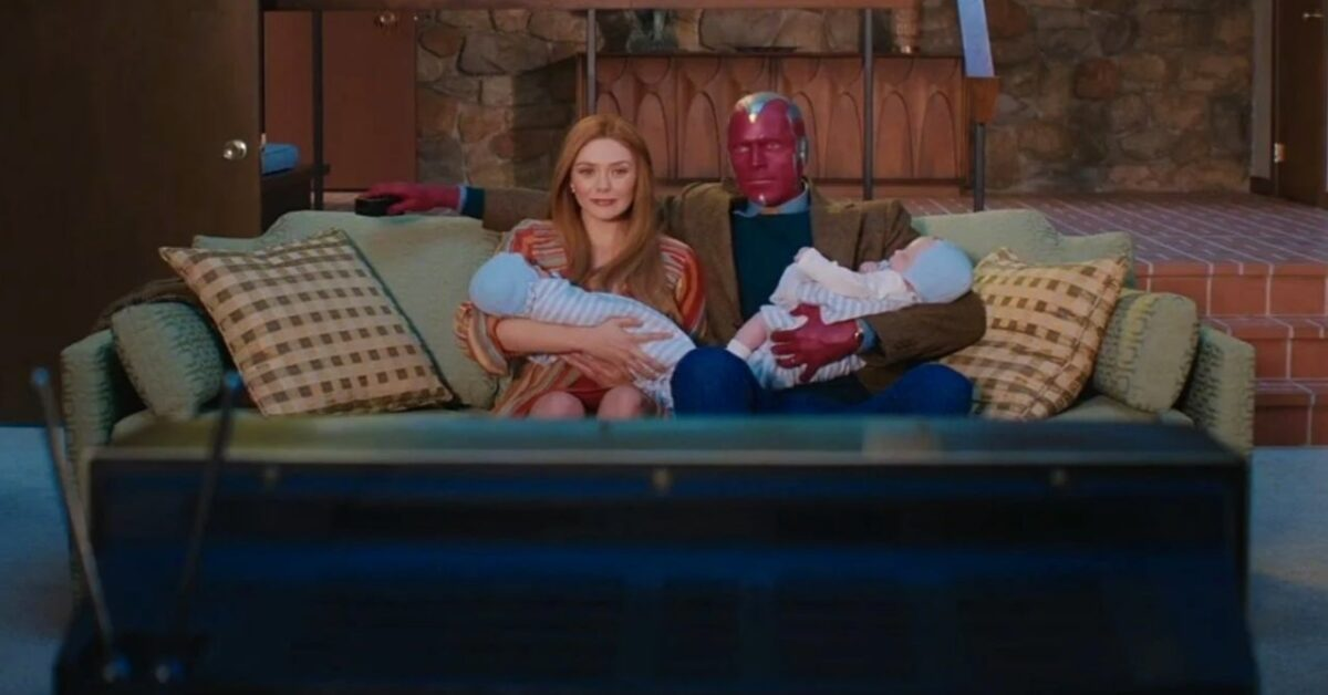 Wanda and Vision and their boys