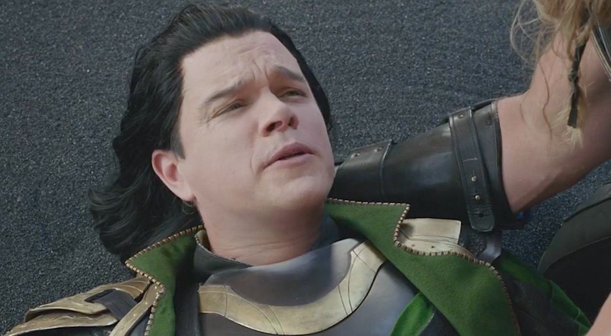 Matt Damon as Loki in 'Thor Ragnarok' cameo