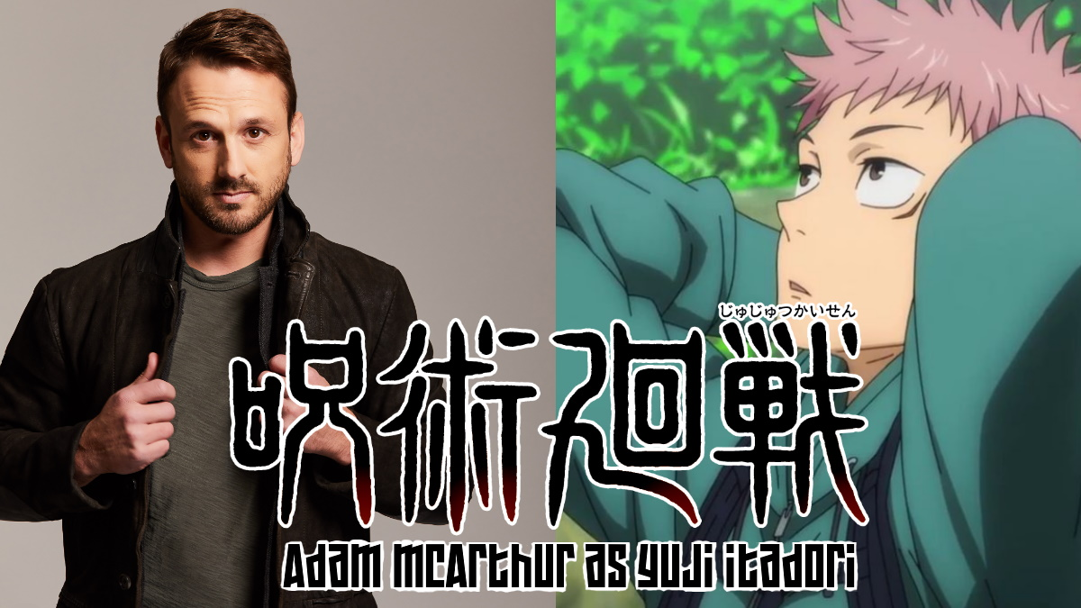 Adam McArthur with his character Yuji Itadori
