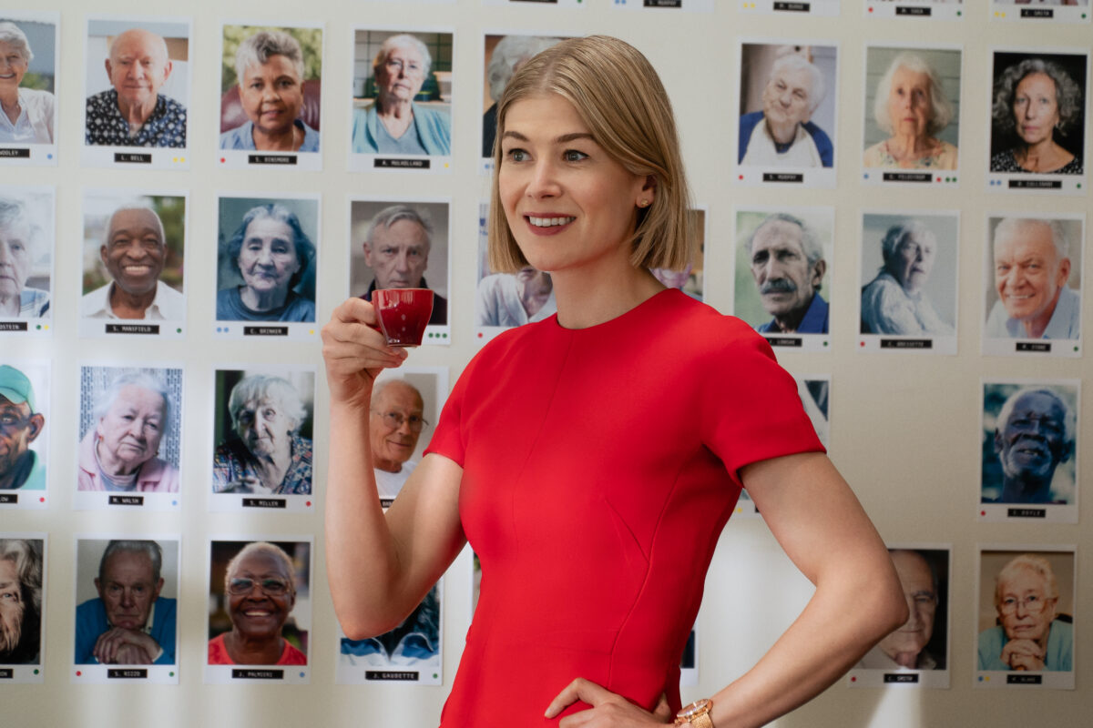 "I Care A Lot: Rosamund Pike as ""Martha"". Photo Cr. Seacia Pavao / Netflix"