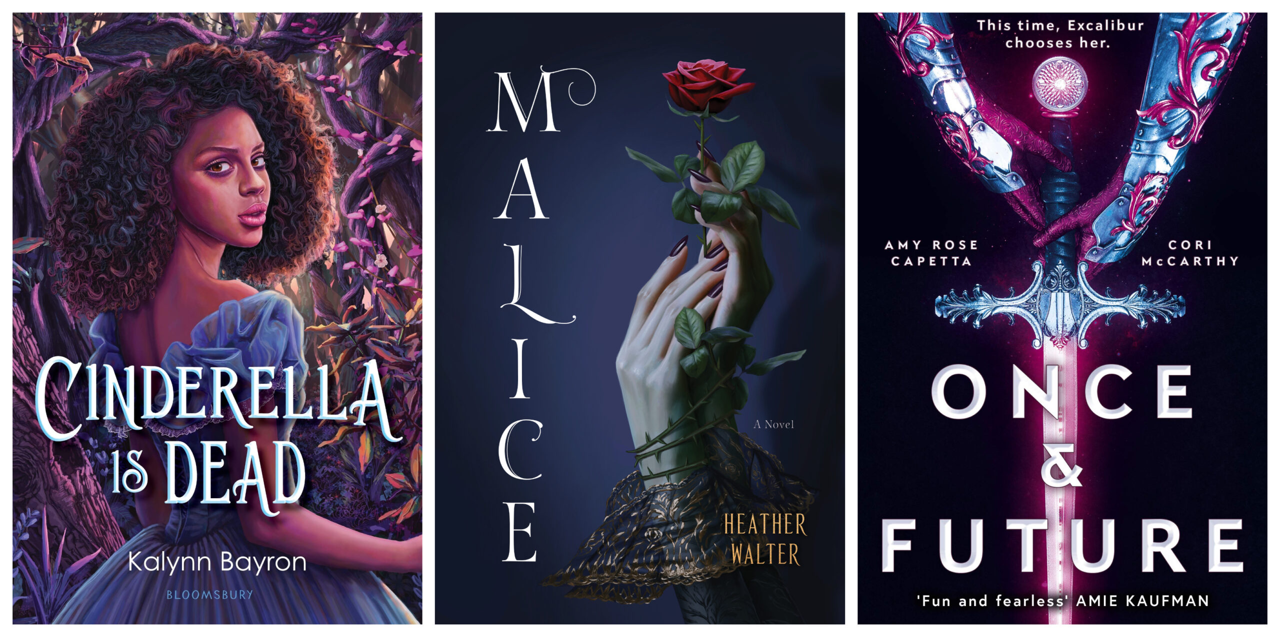 Book cover for Cinderella Is Dead, Malice, and Once and Future