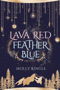 Book cover for Lava Red, Feather Blue by Molly Ringle