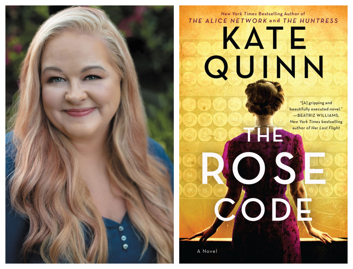 Kate Quinn and her novel, The Rose Code