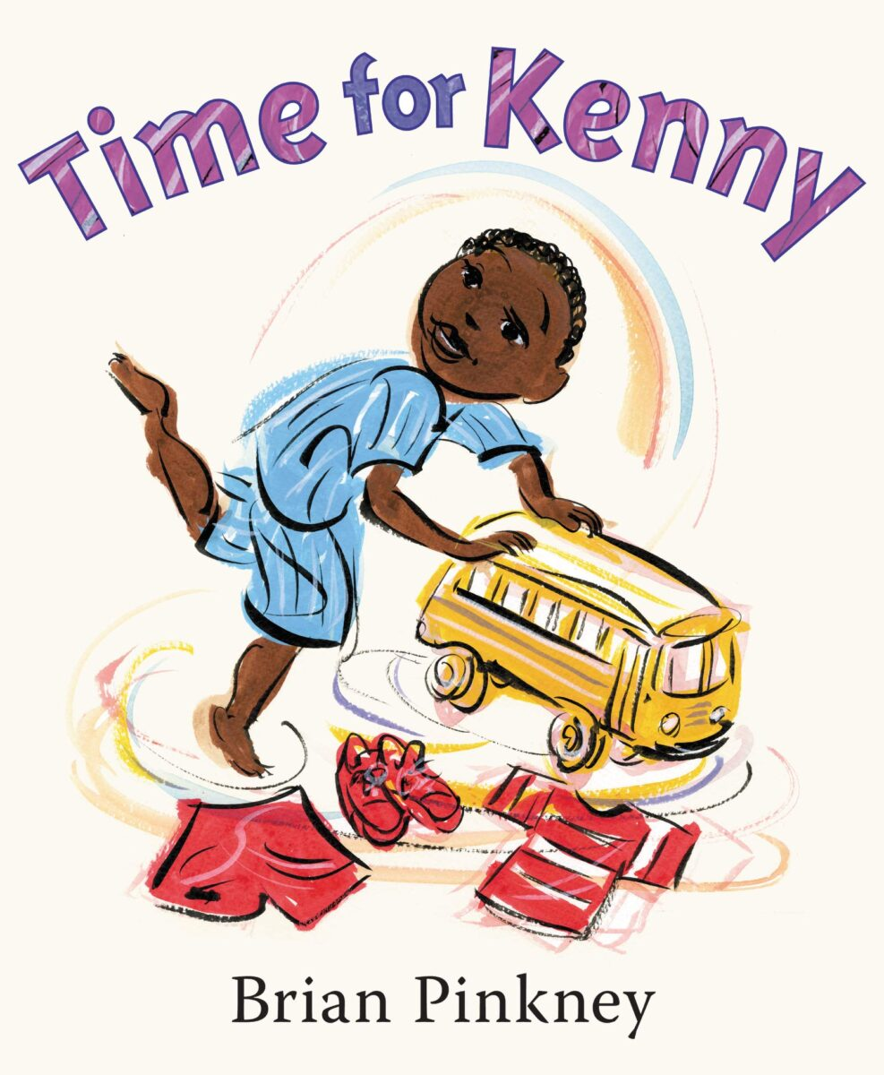Book cover for Time for Kenny by Brian Pinkney