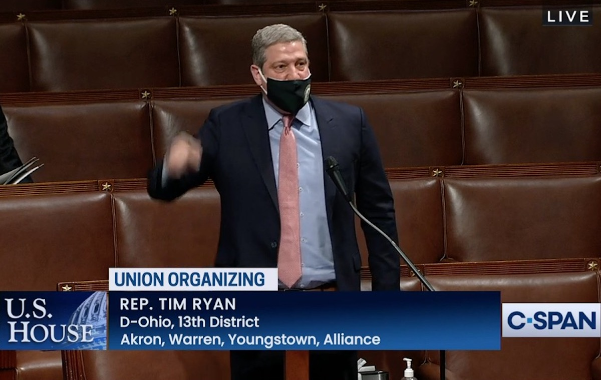 Tim Ryan yells at Republicans from the House floor