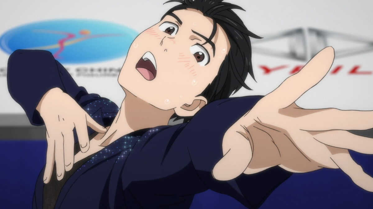 Yuri finishing his skate