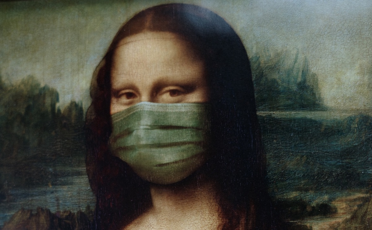 Mona Lisa in a face mask