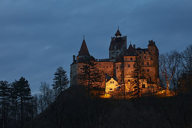 """An image of Bran Castle in Romania, which is called """"Dracula's Castle"""""""