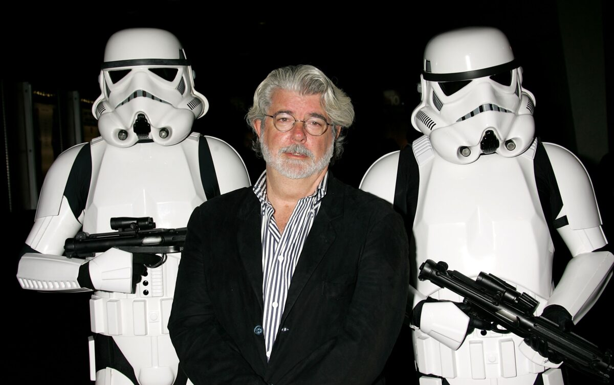 George Lucas with Troopers