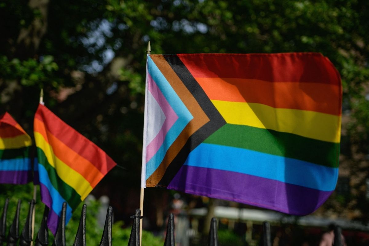 Pride Flag at the Stonewall National Monument