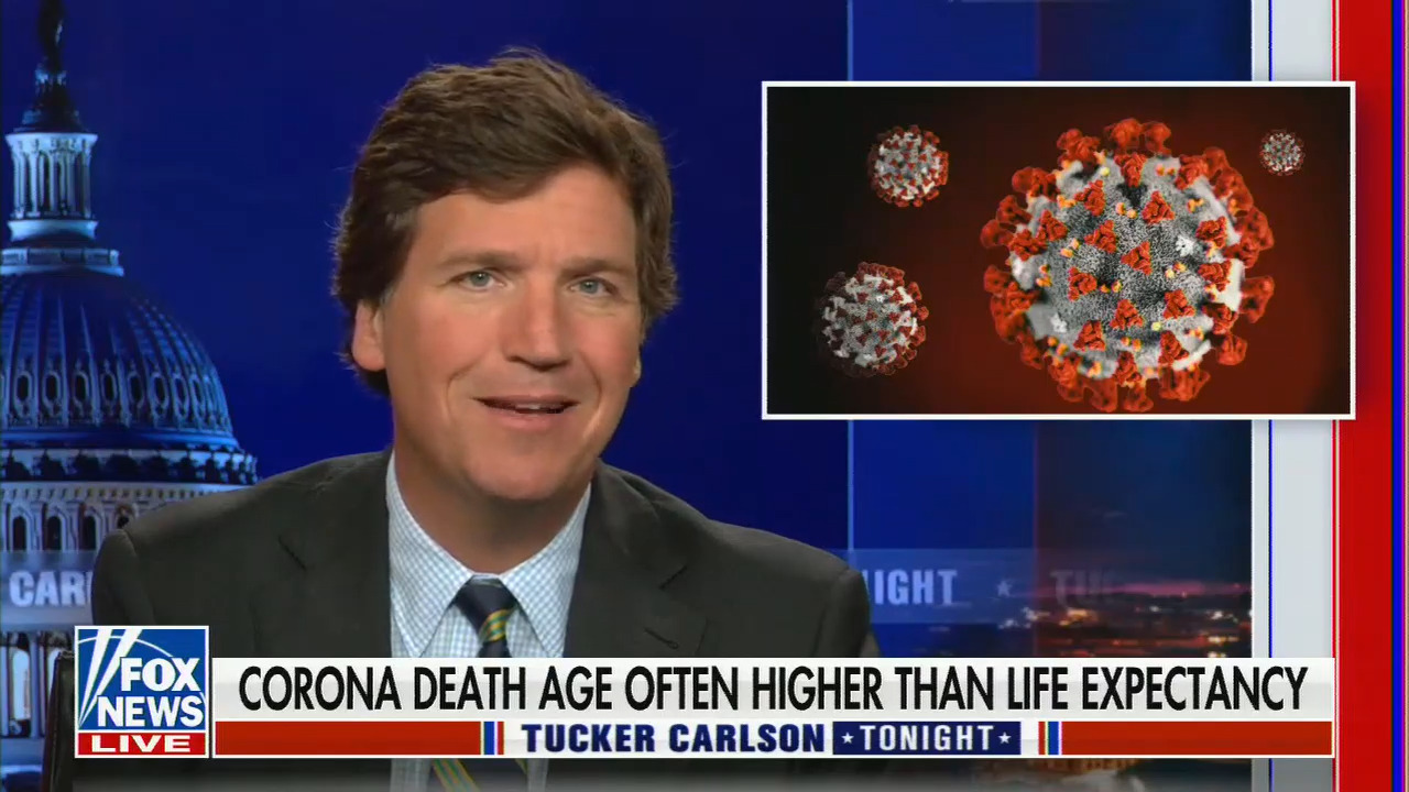 Does Tucker Carlson Think People Who Reached Average Life Expectancy Are Expendable?
