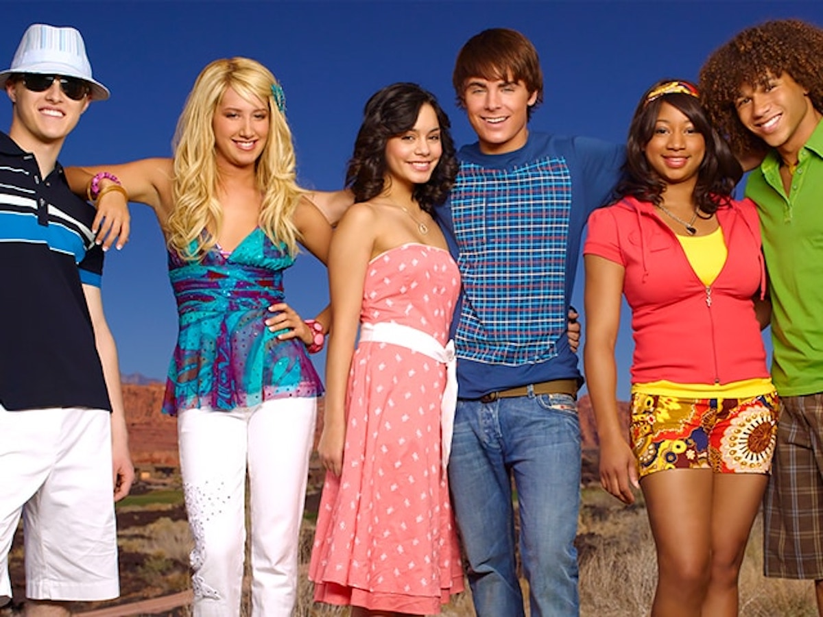 The cast of High School Musical 2 poses for a promotional shot