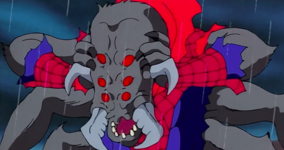 Spider-Man transformed into the Man-Spider in the '90s Spider-Man animated series.