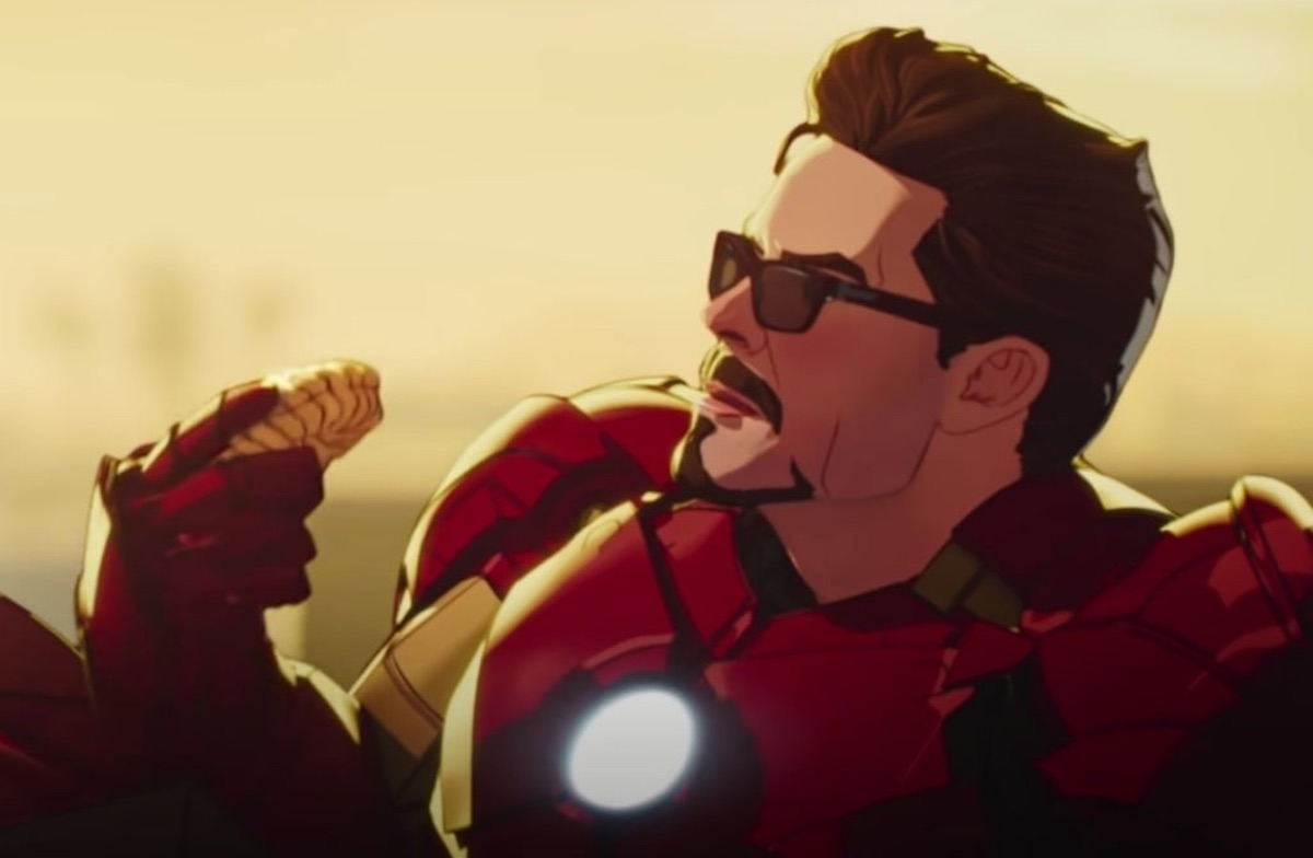 An animated version of Tony Stark lounges in Marvel Studios' 'What If...?'