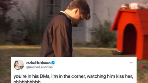 George Michael Bluth walking sadly on Arrested Development, with a tweet superimposed reading