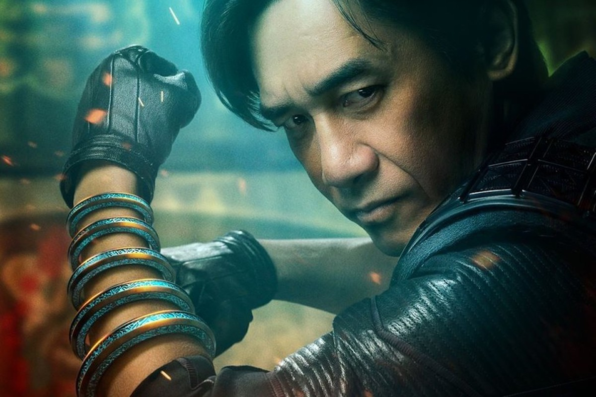 Tony Leung strikes a pose with the ten rings as Wenwu in 'Shang-Chi'