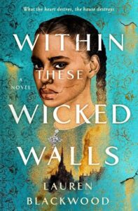 Black woman with two braids in front of an aged turquoise wallpaper.  (Image: Wednesday books.)
