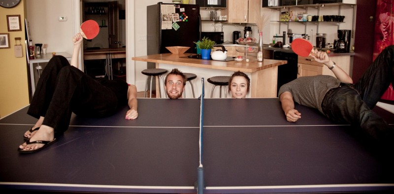 Double Ping-Pong Table